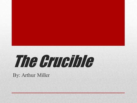 Essay questions the crucible